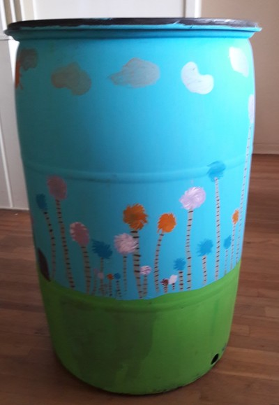 These rain barrels are for sale.  Please call 797-4520 if you're interested in purchasing.  All proceeds go to the Arboretum.